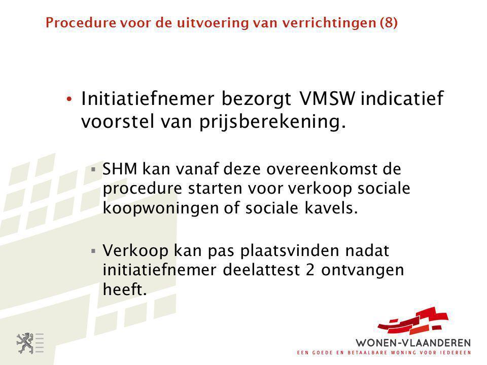 Procedure voor de uitvoering van verrichtingen (8)