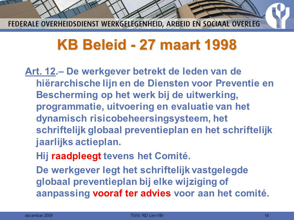 KB Beleid - 27 maart 1998