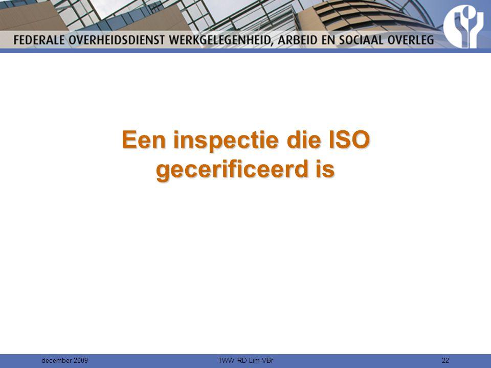 Een inspectie die ISO gecerificeerd is