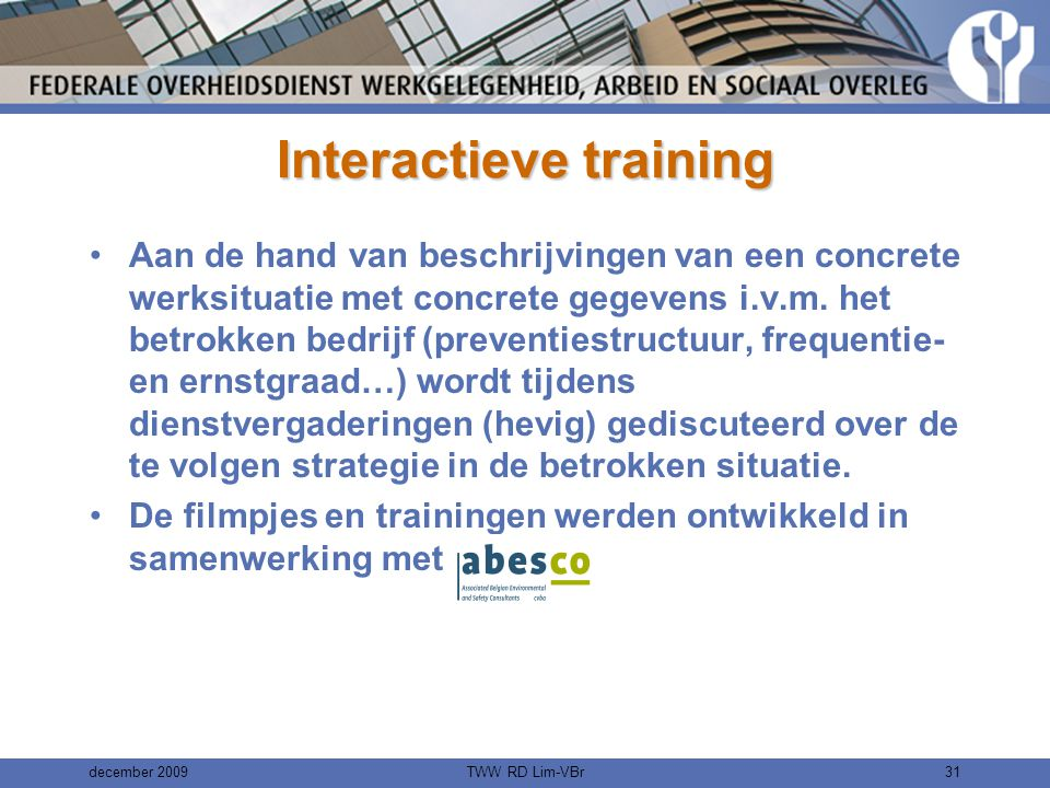 Interactieve training