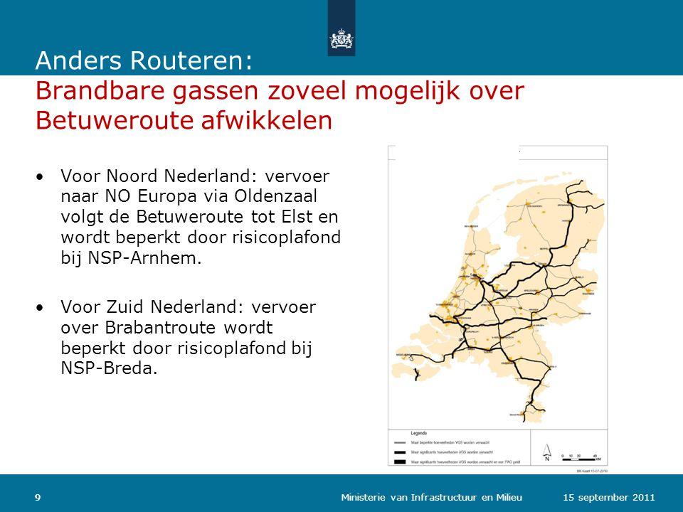 Anders Routeren: Brandbare gassen zoveel mogelijk over Betuweroute afwikkelen