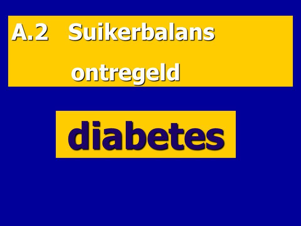 A.2 Suikerbalans ontregeld diabetes