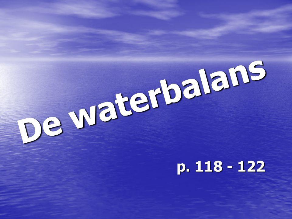 De waterbalans p. 118 - 122