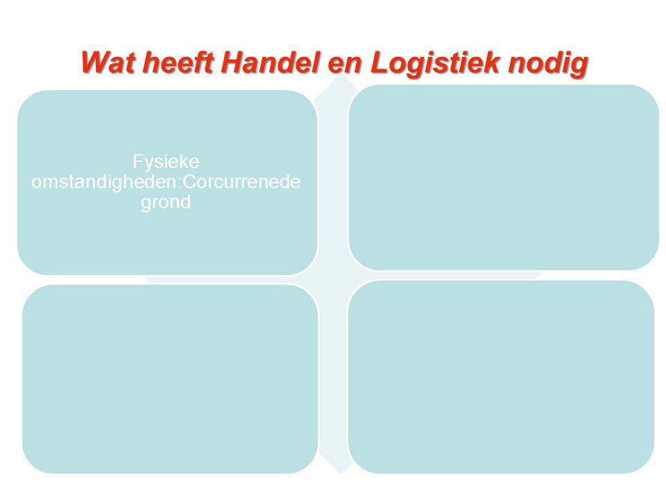 Wat heeft Handel en Logistiek nodig