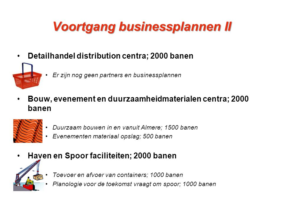 Voortgang businessplannen II