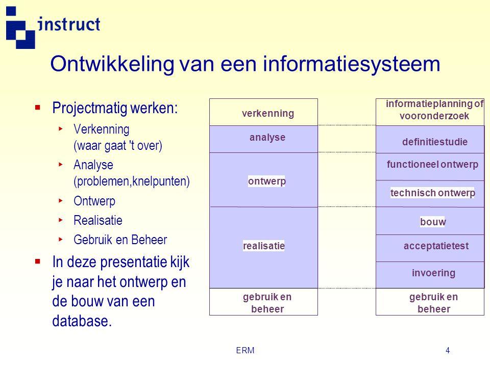Ontwikkeling van een informatiesysteem