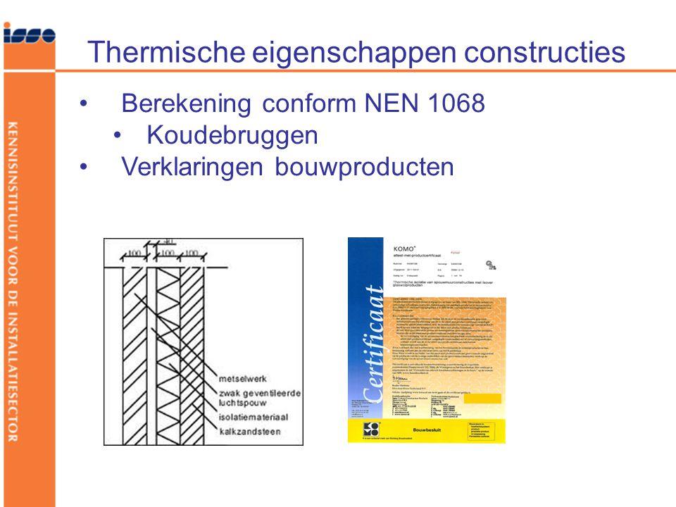 Thermische eigenschappen constructies