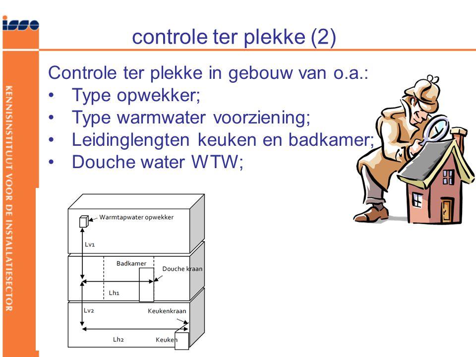 controle ter plekke (2) Controle ter plekke in gebouw van o.a.: