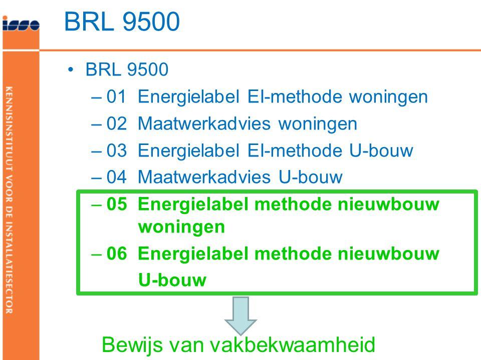 BRL 9500 Bewijs van vakbekwaamheid BRL 9500