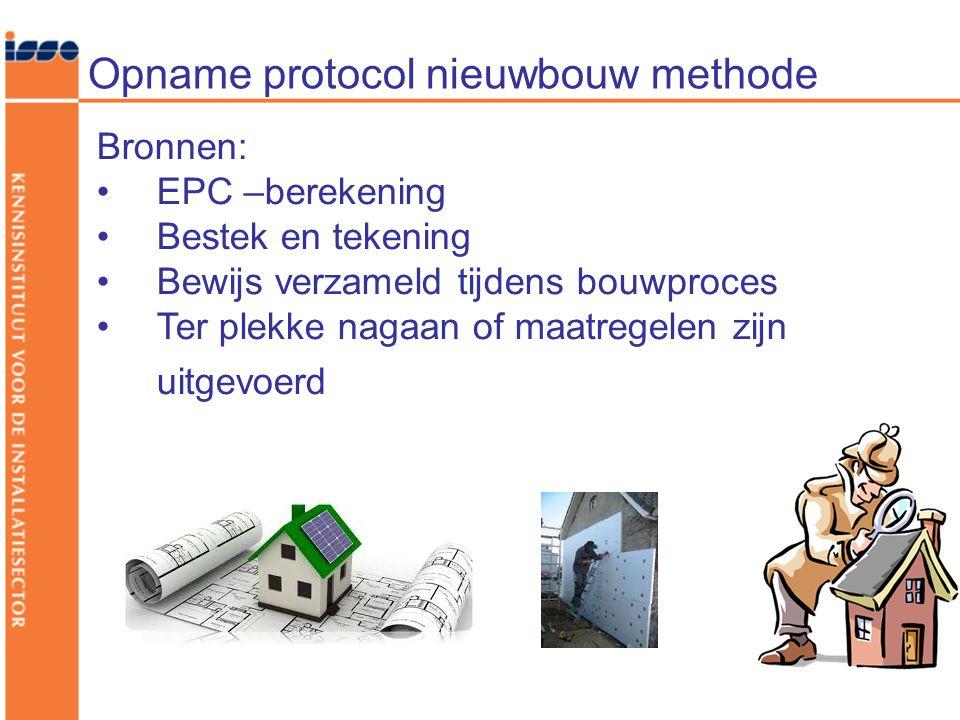 Opname protocol nieuwbouw methode