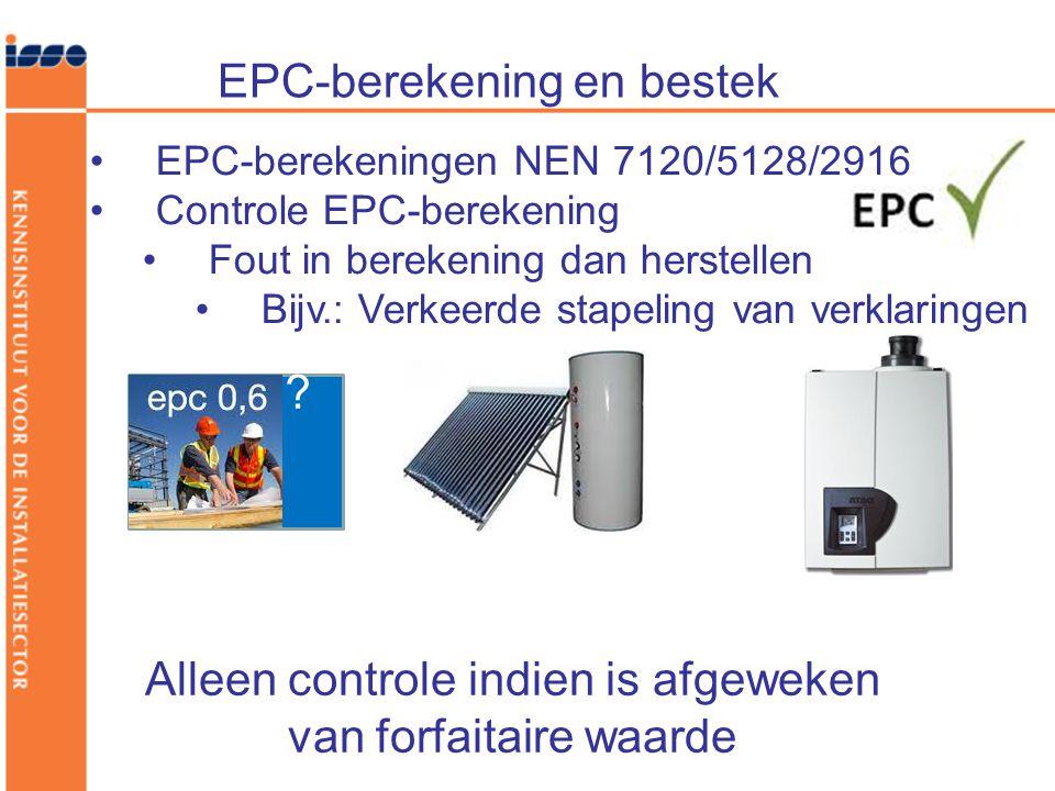 EPC-berekening en bestek