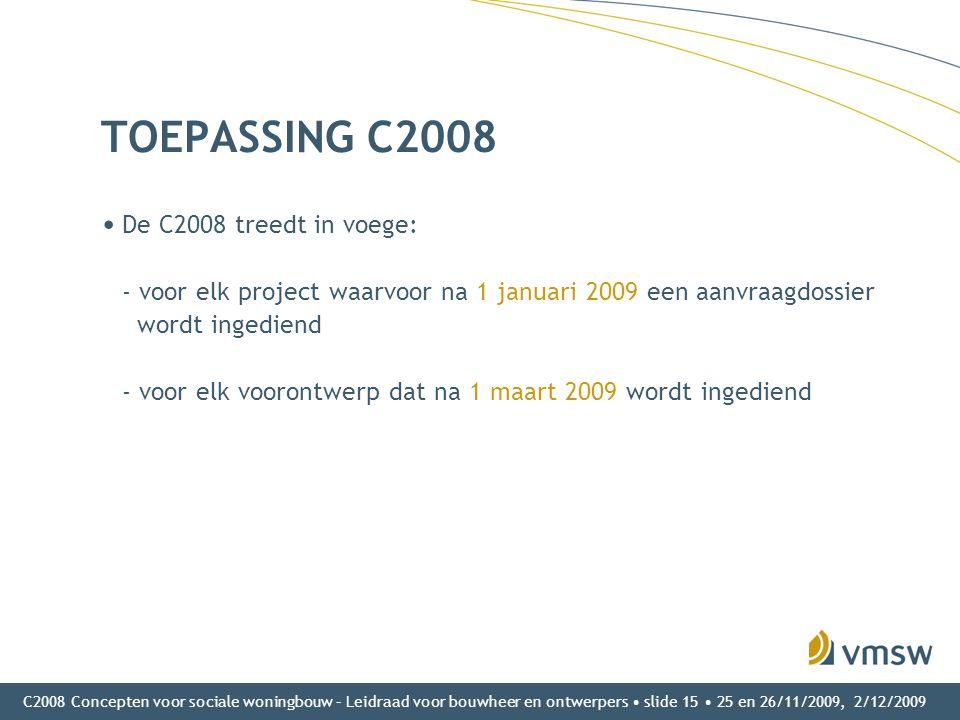 TOEPASSING C2008