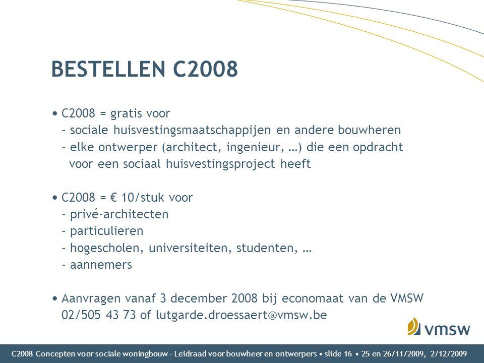 BESTELLEN C2008