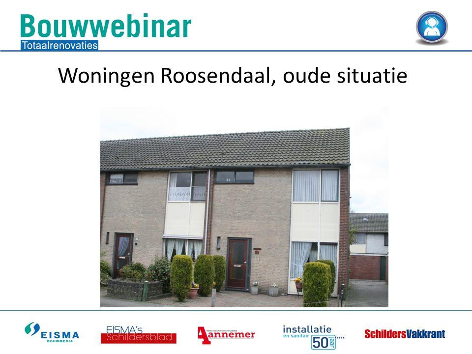 Woningen Roosendaal, oude situatie