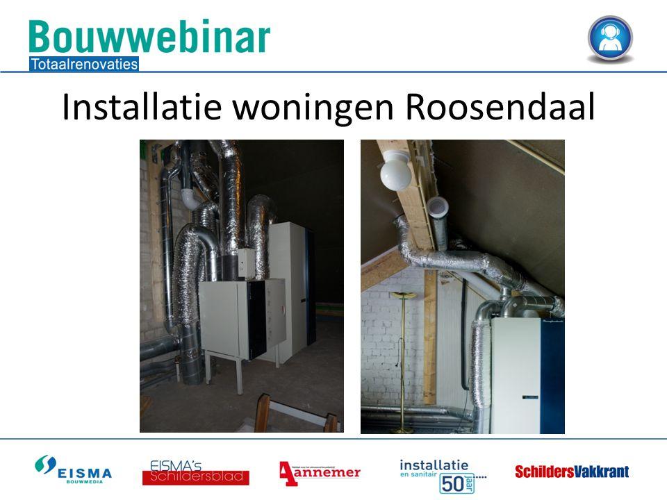 Installatie woningen Roosendaal