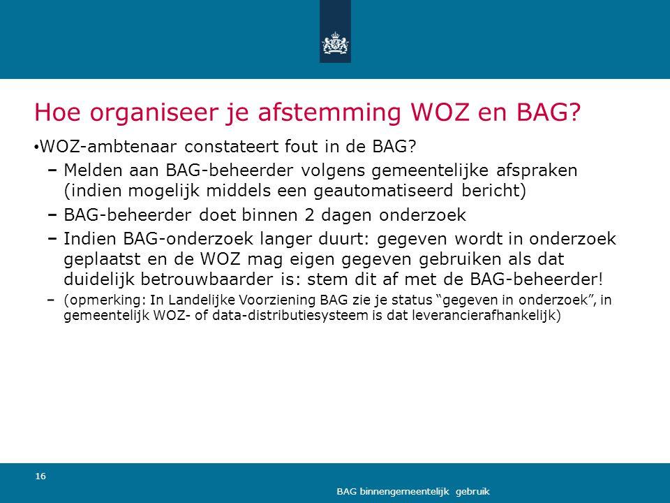Hoe organiseer je afstemming WOZ en BAG