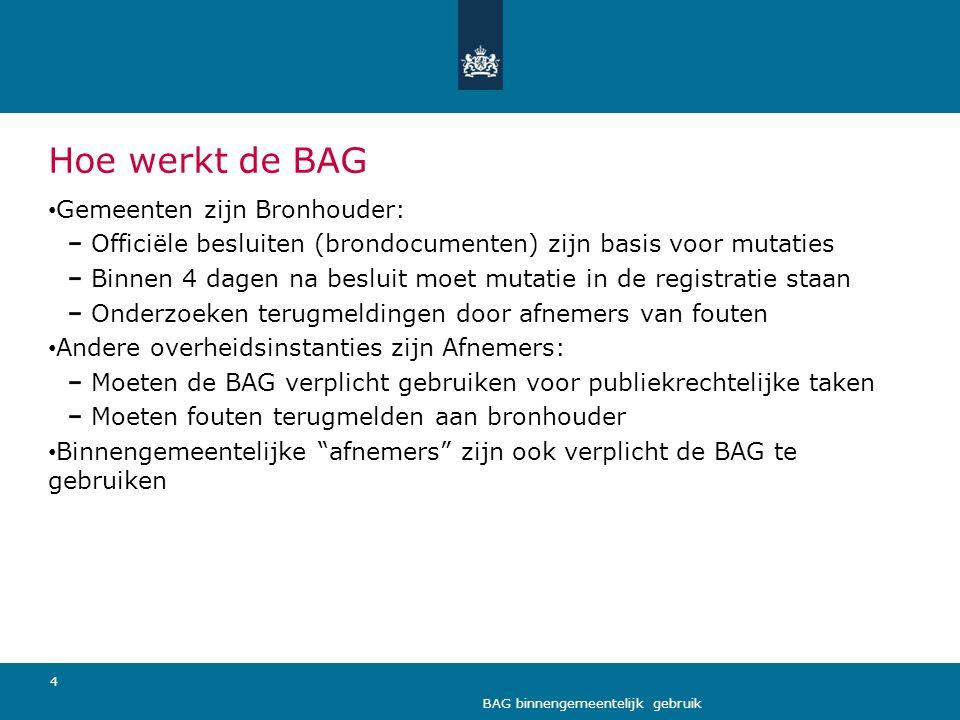 Hoe werkt de BAG Gemeenten zijn Bronhouder: