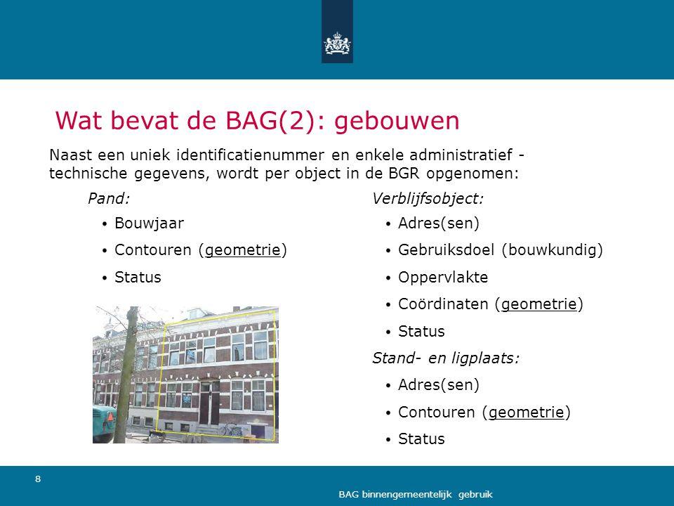 Wat bevat de BAG(2): gebouwen