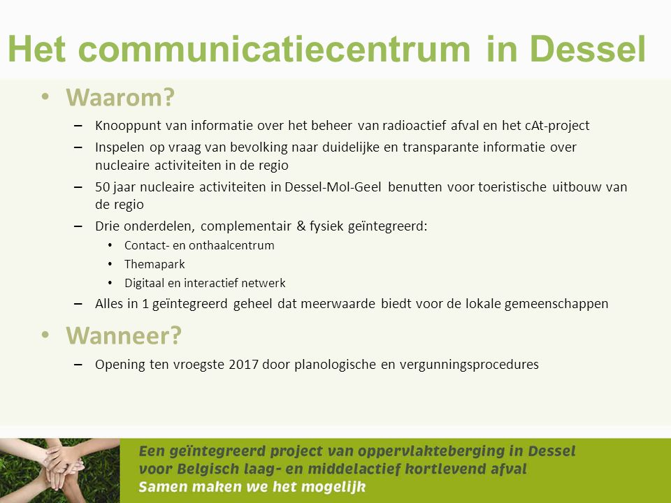 Het communicatiecentrum in Dessel