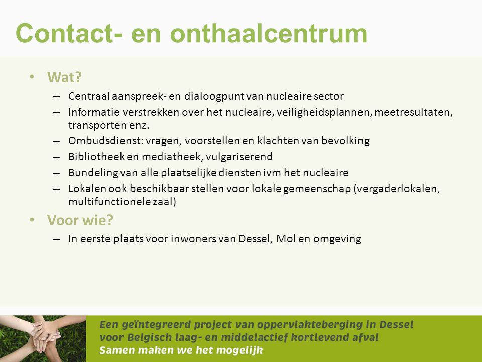 Contact- en onthaalcentrum