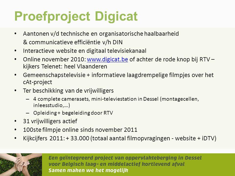 Proefproject Digicat Aantonen v/d technische en organisatorische haalbaarheid. & communicatieve efficiëntie v/h DIN.