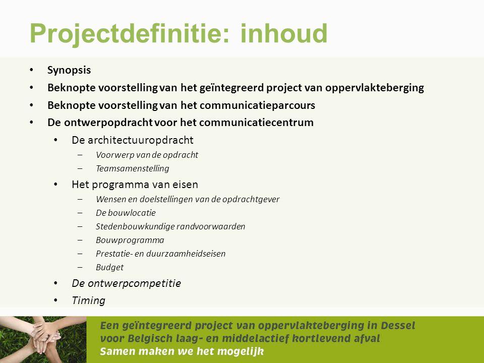 Projectdefinitie: inhoud