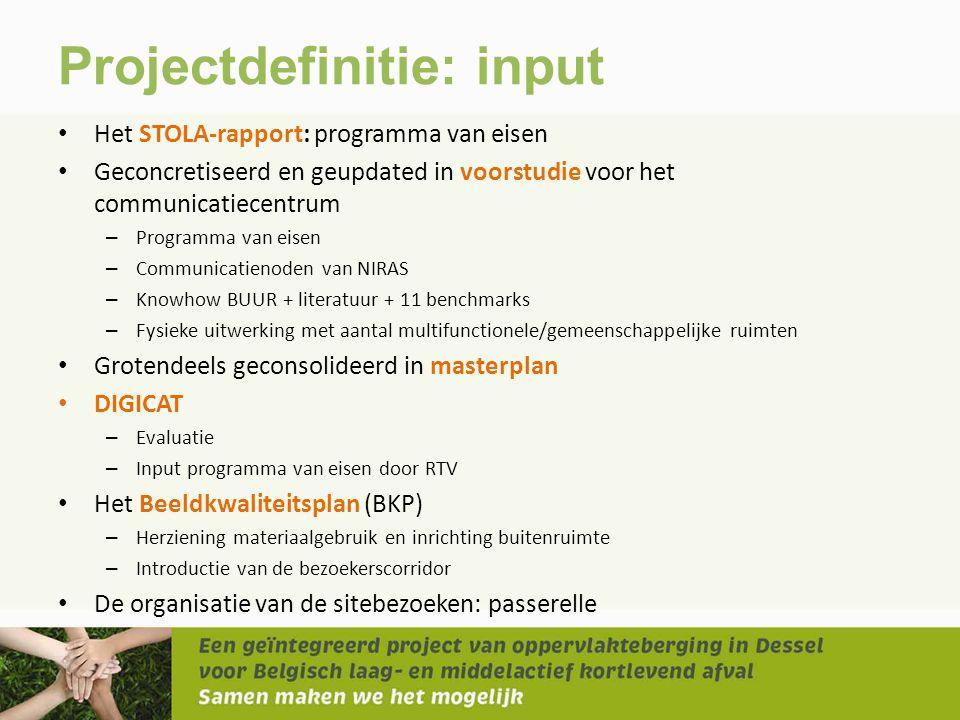 Projectdefinitie: input