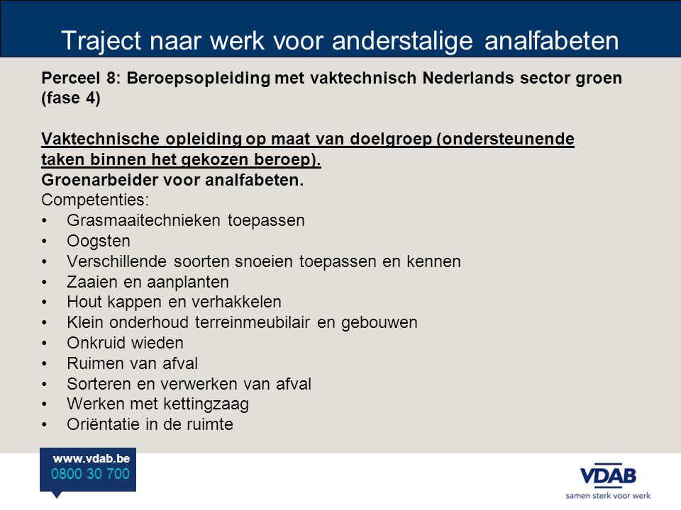 Traject naar werk voor anderstalige analfabeten