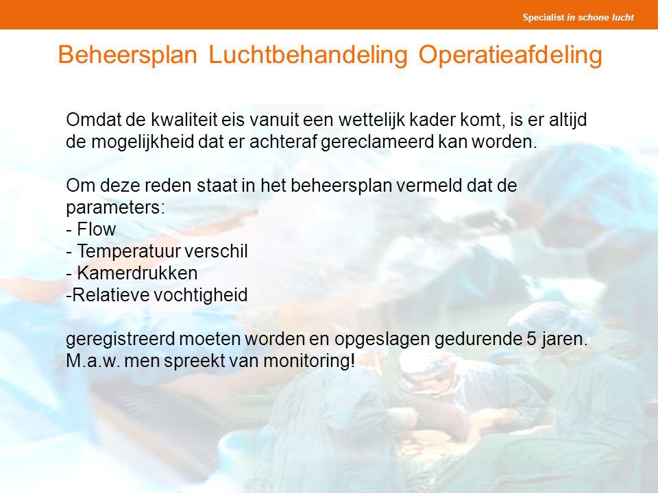 Beheersplan Luchtbehandeling Operatieafdeling