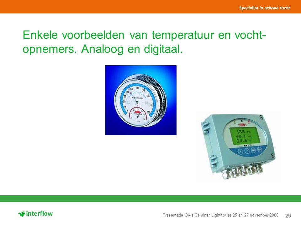 Enkele voorbeelden van temperatuur en vocht-opnemers