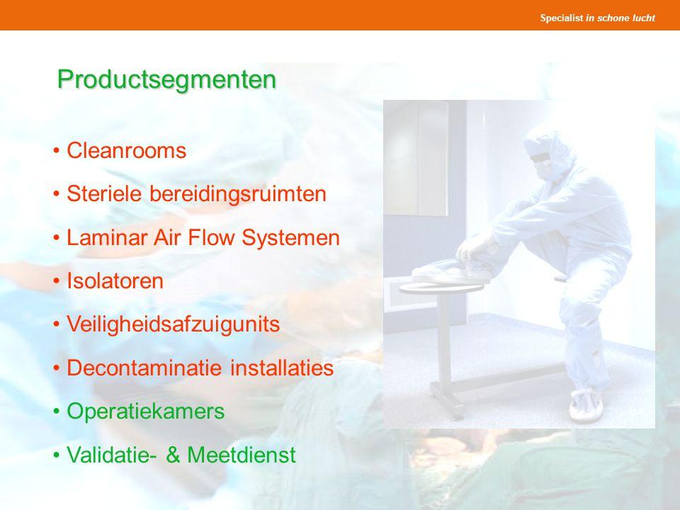 Productsegmenten Cleanrooms Steriele bereidingsruimten