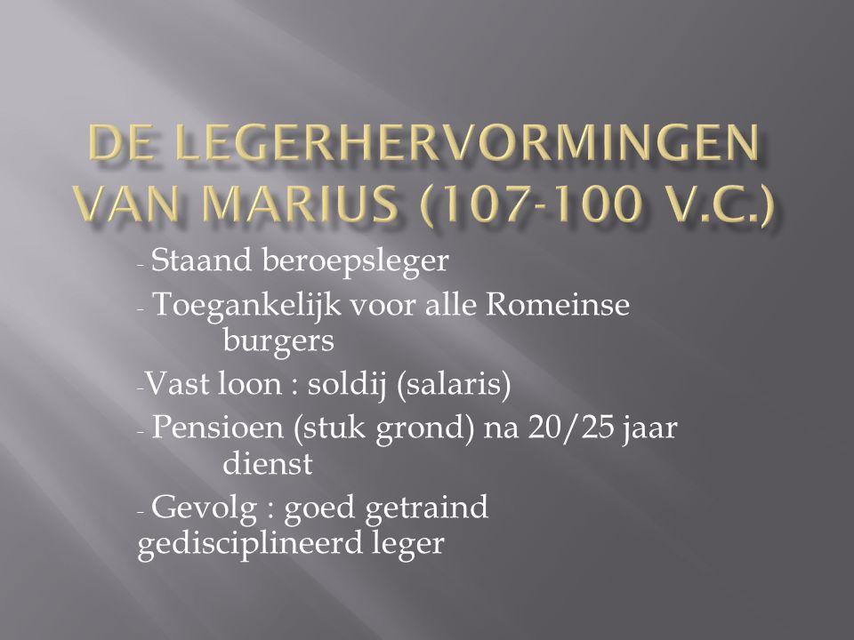 De LEGERHERVORMINGEN VAN Marius (107-100 V.c.)