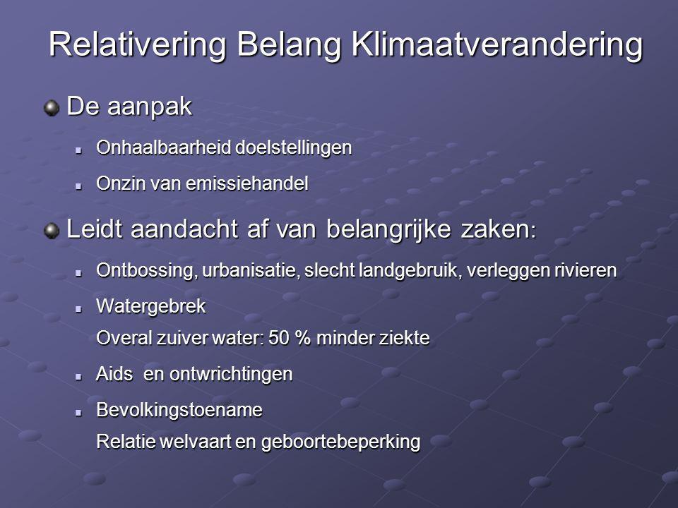 Relativering Belang Klimaatverandering