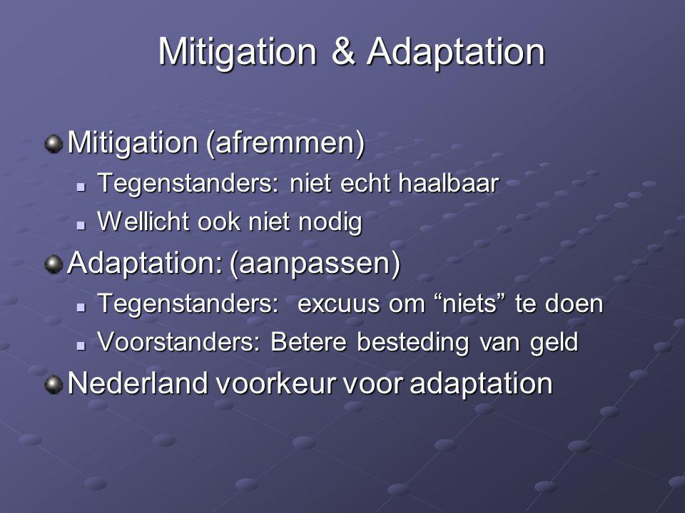 Mitigation & Adaptation