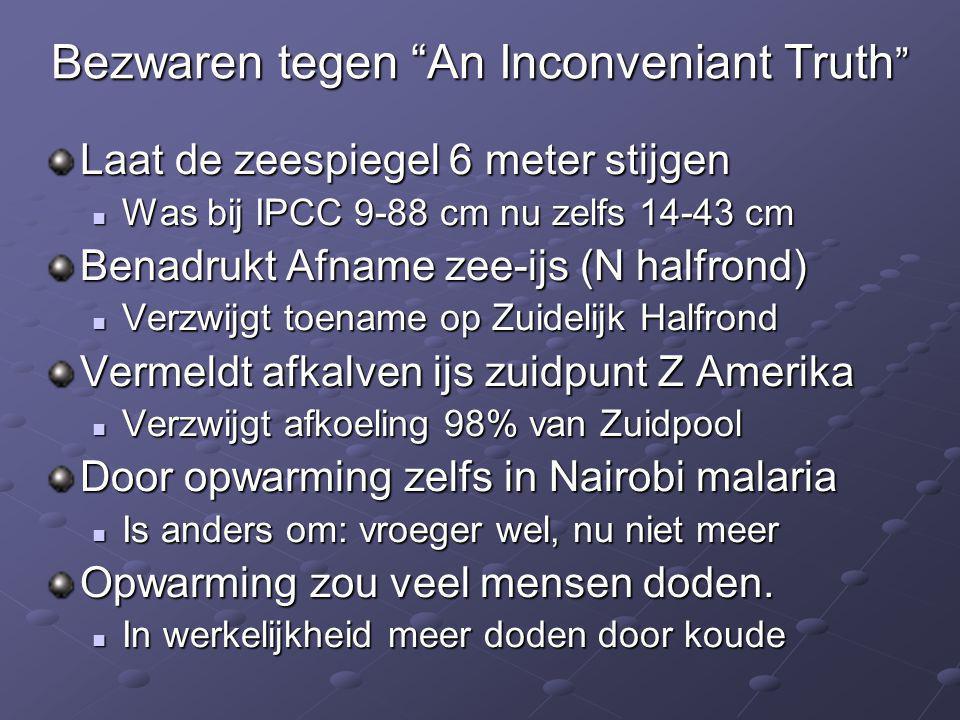 Bezwaren tegen An Inconveniant Truth