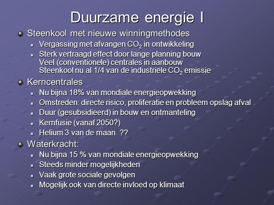 Duurzame energie I Steenkool met nieuwe winningmethodes Kerncentrales