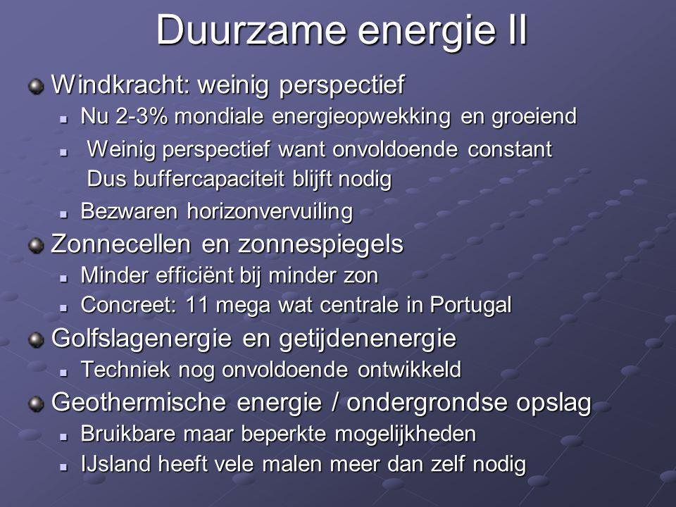 Duurzame energie II Windkracht: weinig perspectief