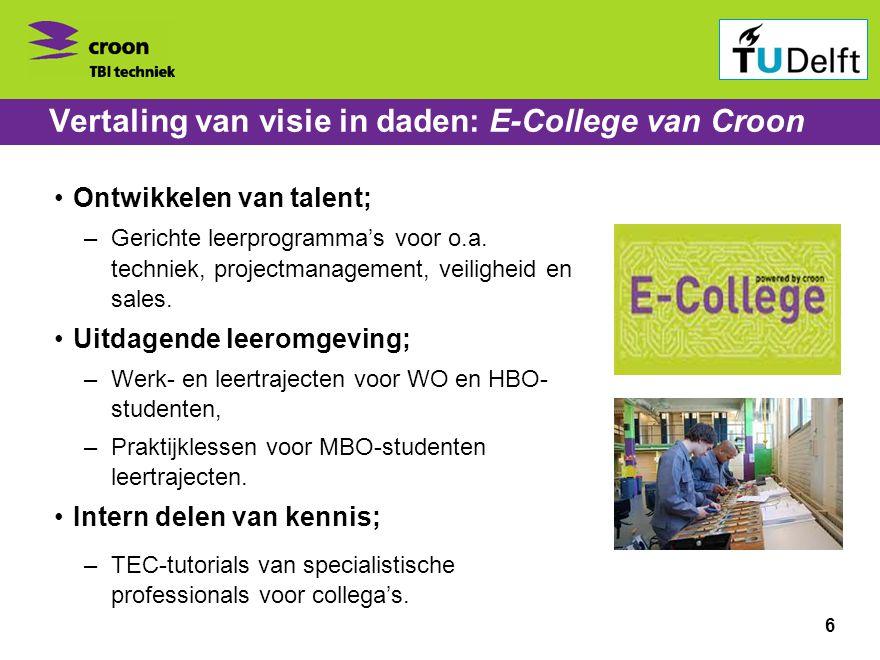 Vertaling van visie in daden: E-College van Croon