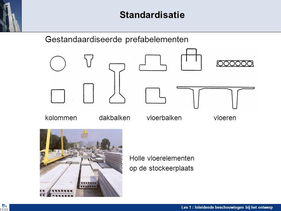 Standardisatie Gestandaardiseerde prefabelementen