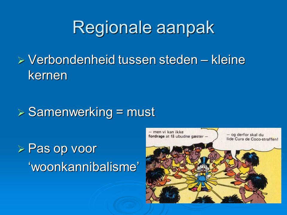 Regionale aanpak Verbondenheid tussen steden – kleine kernen