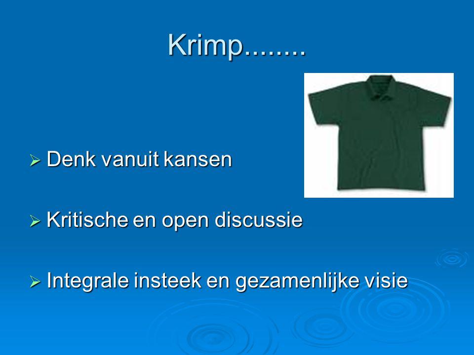 Krimp........ Denk vanuit kansen Kritische en open discussie