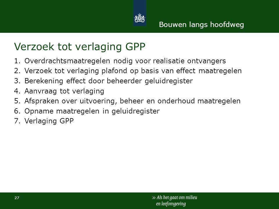 Verzoek tot verlaging GPP