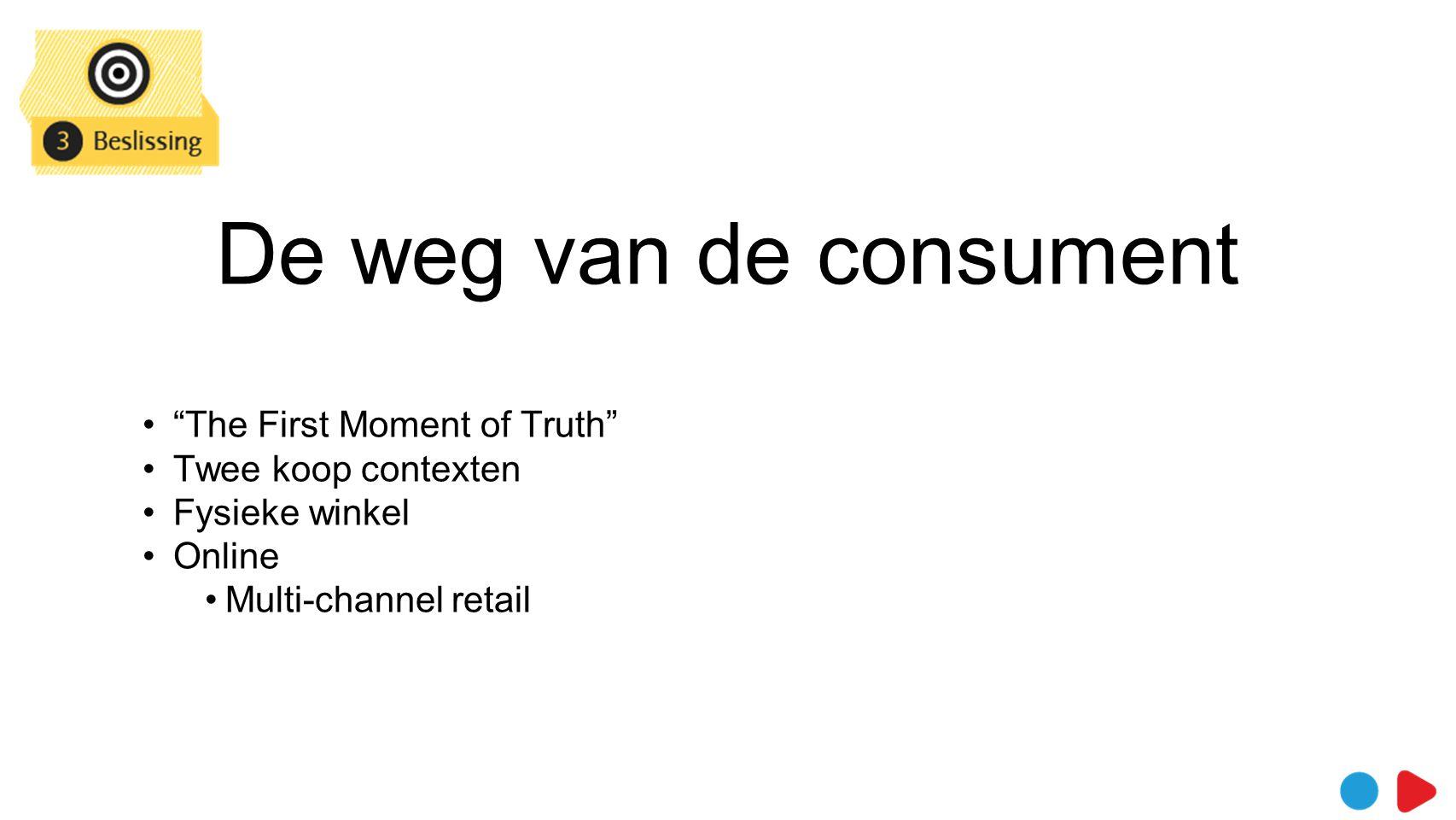 De weg van de consument Beslissing > vandaag minder essentieel > direct reviews opzoeken.