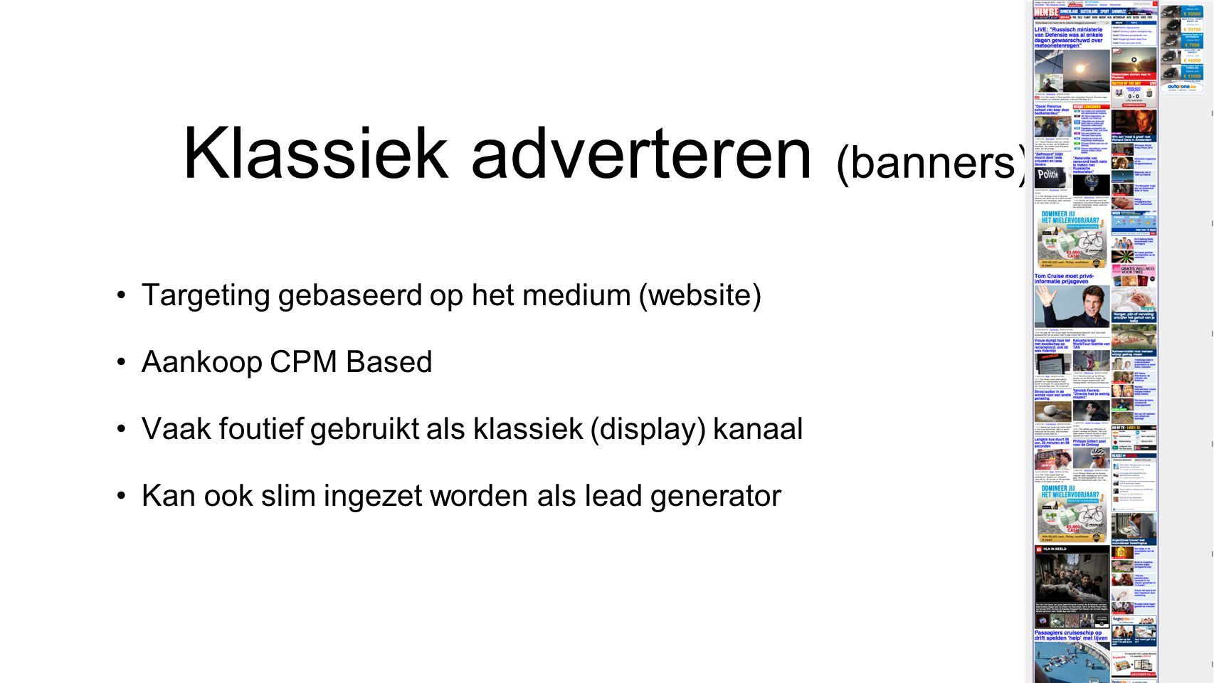 Klassiek adverteren (banners)