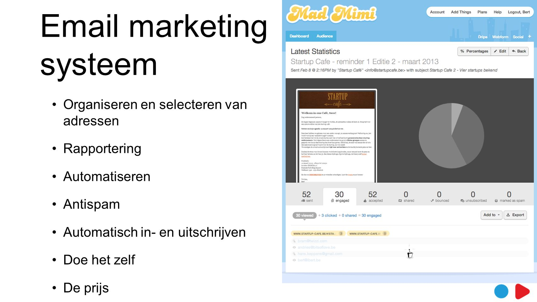 Email marketing systeem