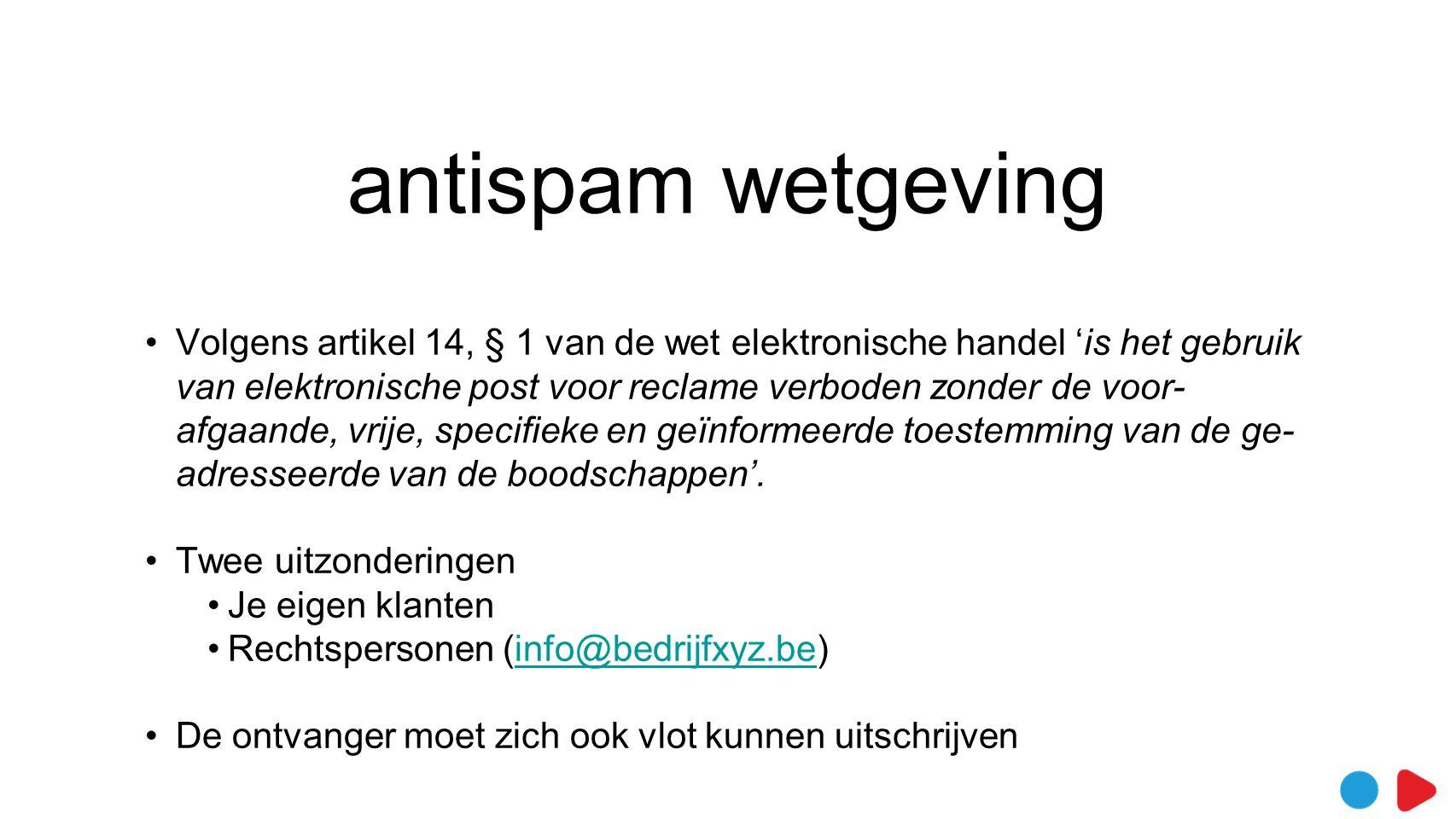 antispam wetgeving