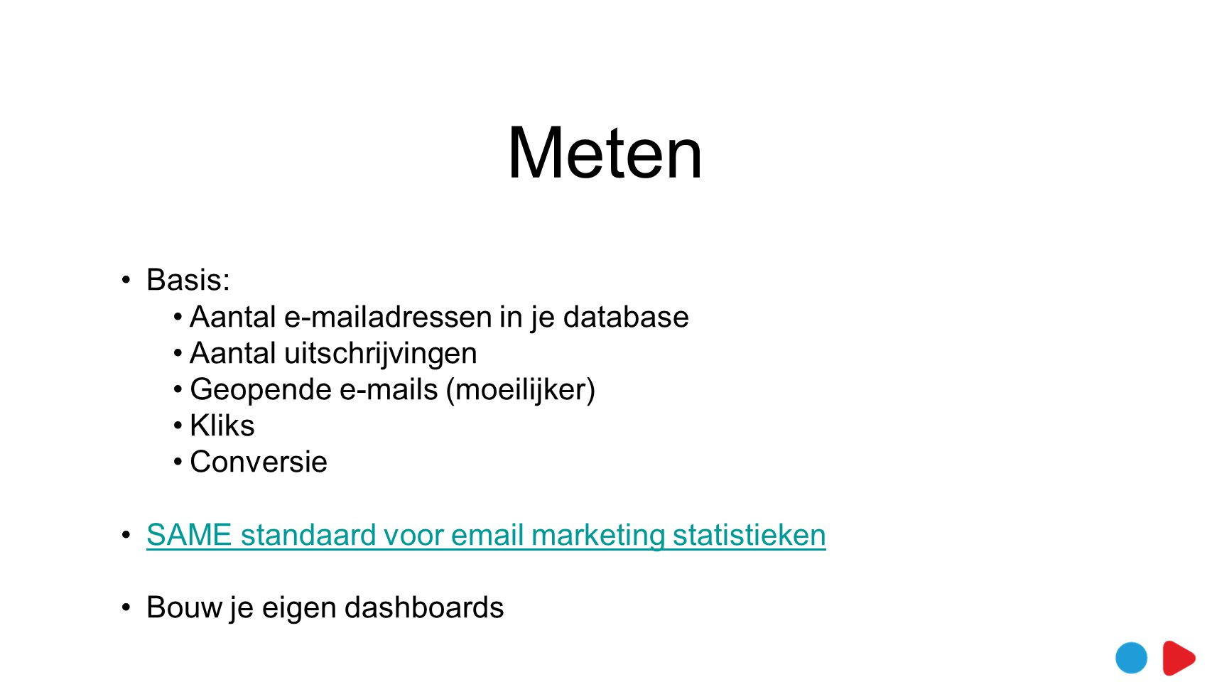Meten Basis: Aantal e-mailadressen in je database