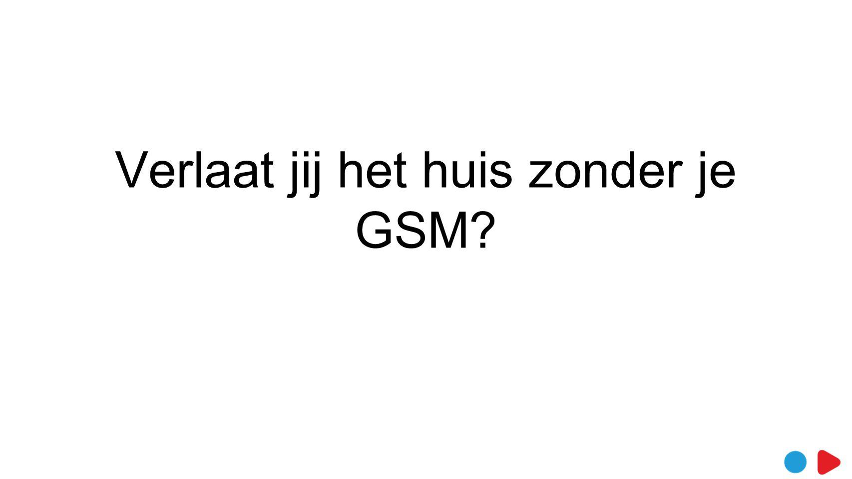 Verlaat jij het huis zonder je GSM