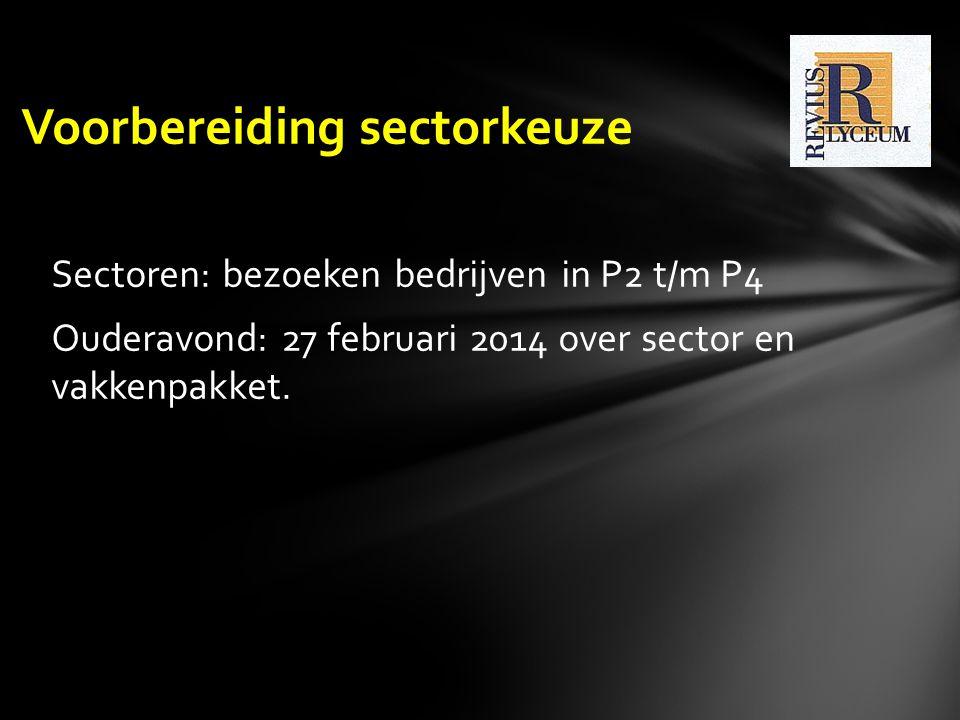 Voorbereiding sectorkeuze