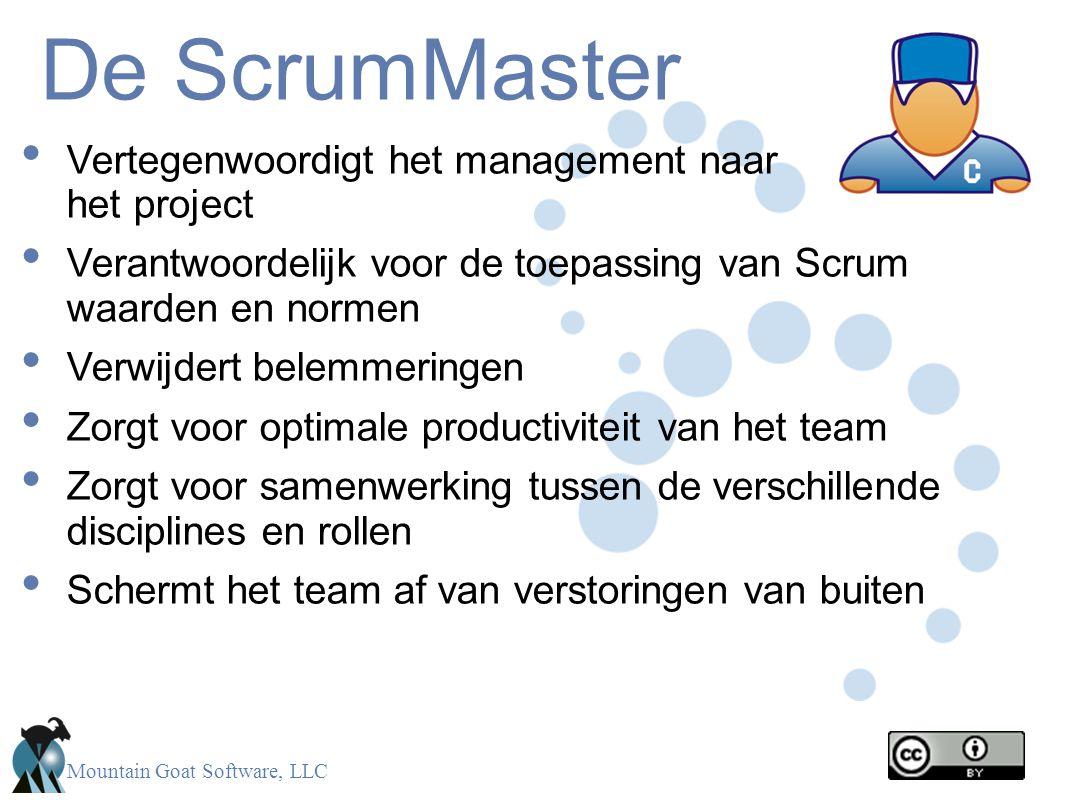 De ScrumMaster Vertegenwoordigt het management naar het project
